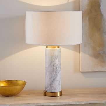 Pillar Table Lamp, Marble Base, Set of 2 - West Elm