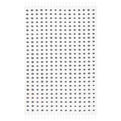 Houndstoot Ivory/Gray Area Rug - Wayfair