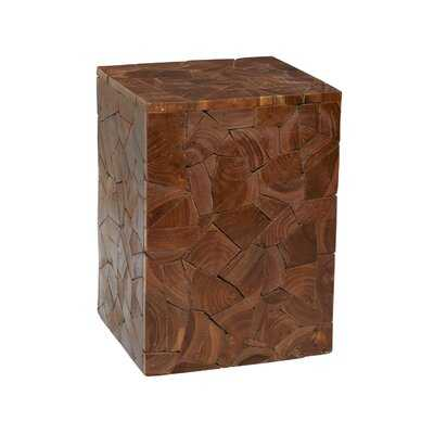 Llewellyn Solid Wood Block End Table - Wayfair