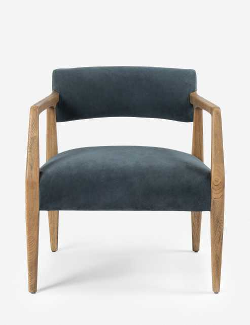 Larabee Accent Chair, Blue - Lulu and Georgia