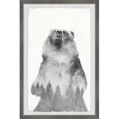 'Mountain Bear' - Picture Frame Graphic Art Print on Paper - Wayfair
