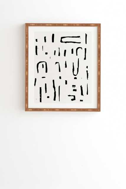 """Studio Wired by Holli Zollinger - Framed Wall Art Bamboo 14"""" x 16.5"""" - Wander Print Co."""
