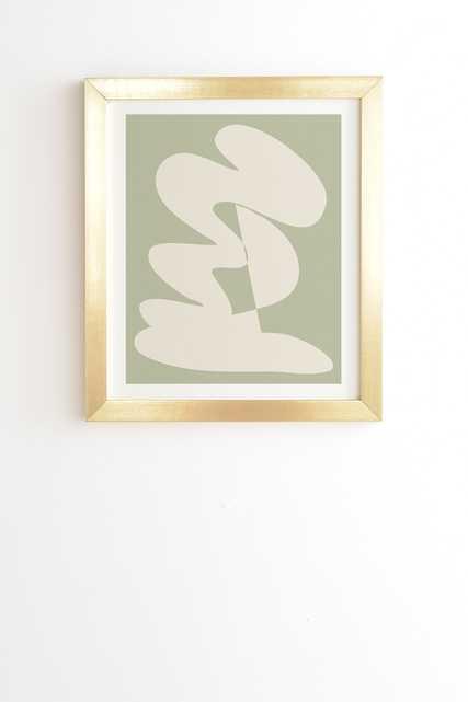 "Minimalist Modern Abstract Exp by June Journal - Framed Wall Art Basic Gold 12"" x 12"" - Wander Print Co."