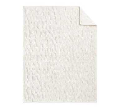 """Faux Fur Throws, 50 x 60"""", Ivory Honeycomb - Pottery Barn"""