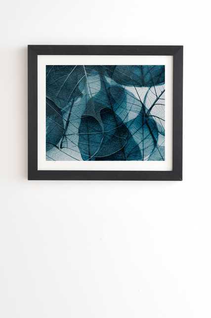 "Ingrid Beddoes Denim blue Black Framed Wall Art - 8"" x 9.5"" - Wander Print Co."
