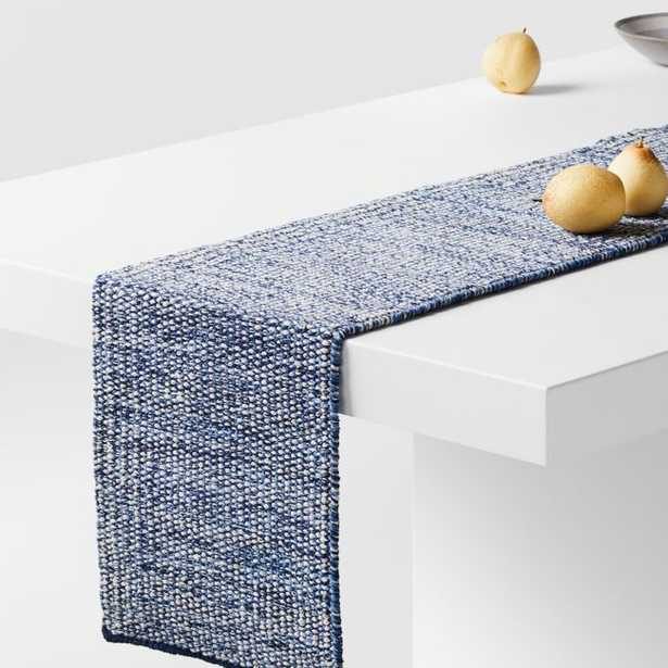 """Tinge 90"""" Blue Table Runner - Crate and Barrel"""