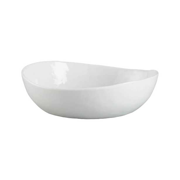 """Mercer Low Bowl, White, 8"""" - Crate and Barrel"""