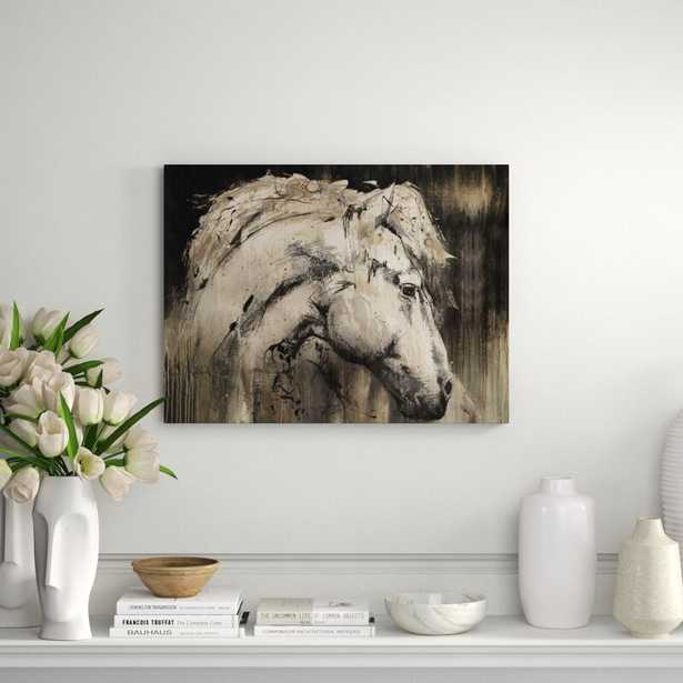 """Chelsea Art Studio 'Horse with No Name II' Graphic Art Print on Wrapped Canvas Format: Outdoor, Size: 40"""" H x 54"""" W x 2"""" D - Perigold"""