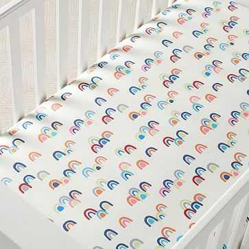 Rainbow, Crib Sheet, Multi - West Elm