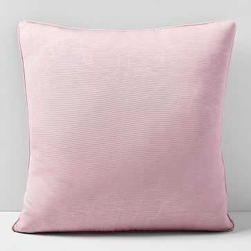"""Faux Silk Moire Pillow Cover, 18""""x18"""", Pink Stone - West Elm"""