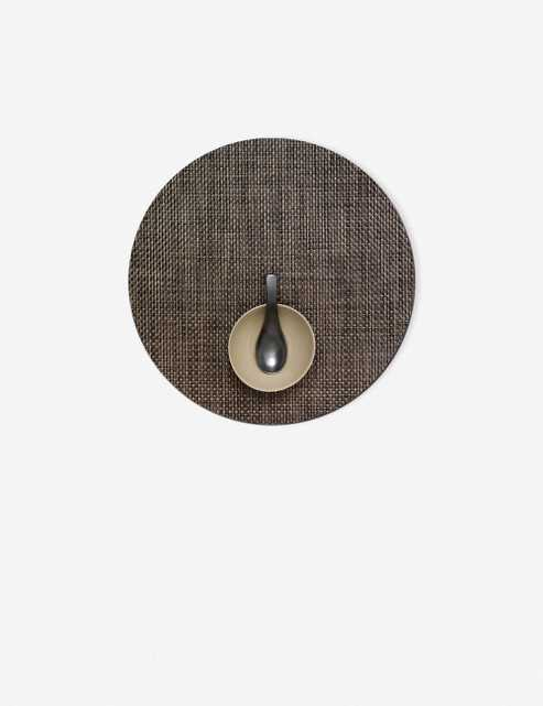 Chilewich Basketweave Round Placemat, Earth (Set of 4) - Lulu and Georgia