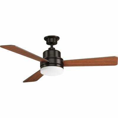 """52"""" Rathburn 3 Blade LED Ceiling Fan, Light Kit Included - AllModern"""