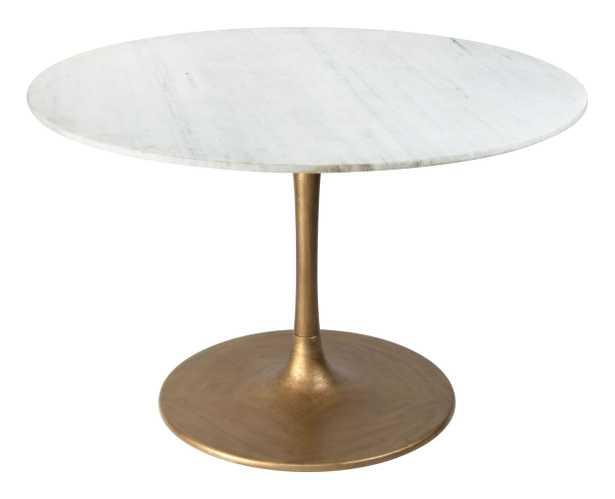 Ithaca Dining Table White & Gold - Zuri Studios