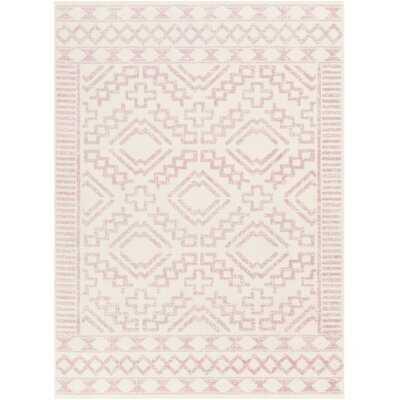 Windley Distressed Pale Oriental Pink/Cream Area Rug - Wayfair