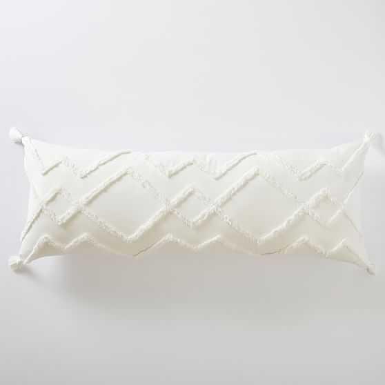 Ashlyn Huggable Pillow, Ivory - West Elm