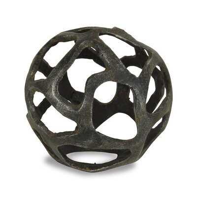 Monty Cast Iron Orb Sculpture - Wayfair