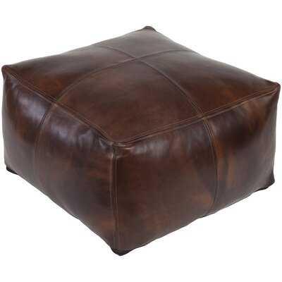 Sheffield Leather Pouf Ottoman - Wayfair