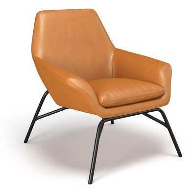 32.75'' W Faux Leather Lounge Chair - Wayfair