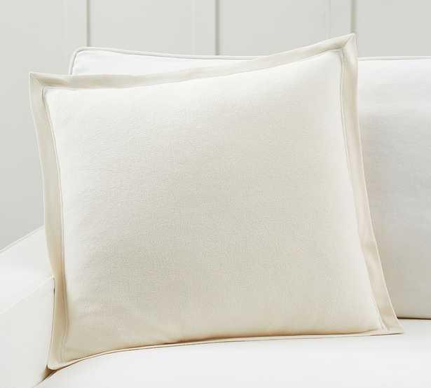 "Cozy Sweatshirt Pillow Cover, 20 x 20"", Ivory - Pottery Barn"