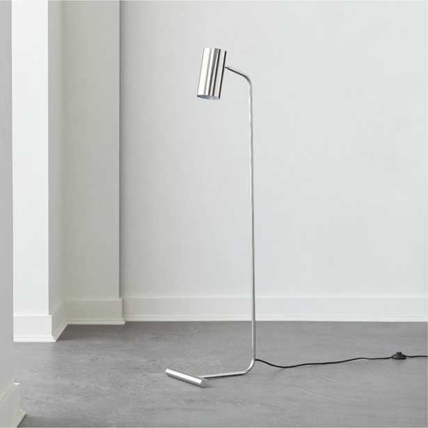 Eldon Task Polished Nickel Floor Lamp - CB2