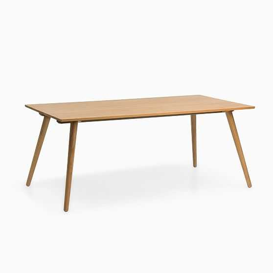 Aurora Exandable Dining Table Oak 70-110 in - West Elm
