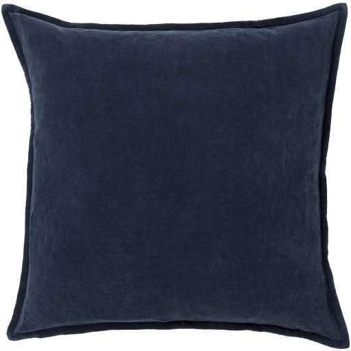 """Cotton Velvet Pillow, 20"""" x 20"""", Navy - Neva Home"""
