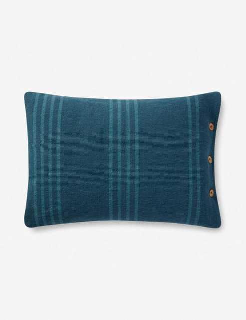 "Rani Lumbar Pillow, Blue 16"" x 20"" - Lulu and Georgia"