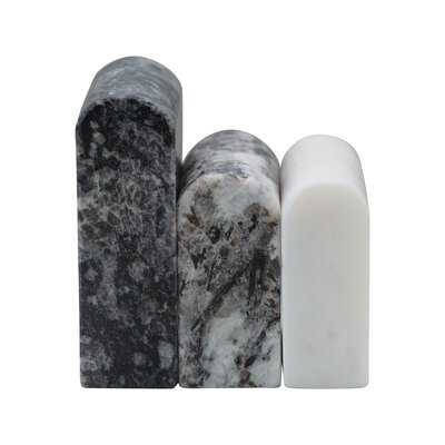 Decorative Granite And Marble Objects, Set Of 3 - Wayfair