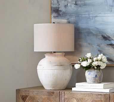 Faris Ceramic Table Lamp Base, White - Pottery Barn
