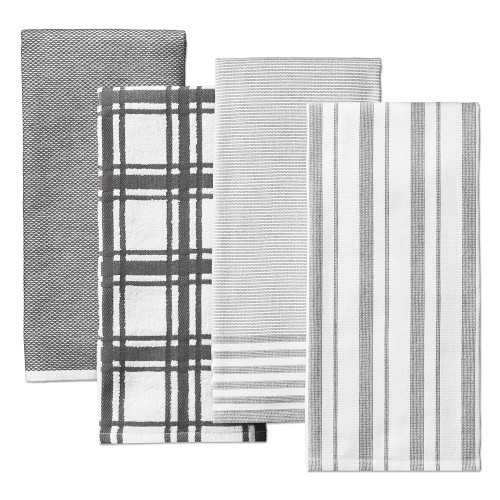 Williams Sonoma Multi-Pack Absorbent Towels, Set of 4, Charcoal - Williams Sonoma