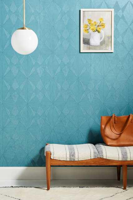 Intrinsic Geometric Wood Wallpaper - Anthropologie