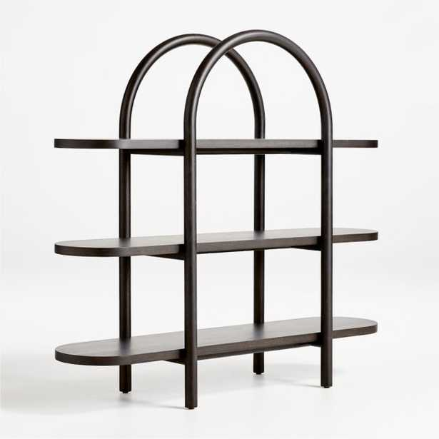 Dolly Black Wide Bookcase - Crate and Barrel