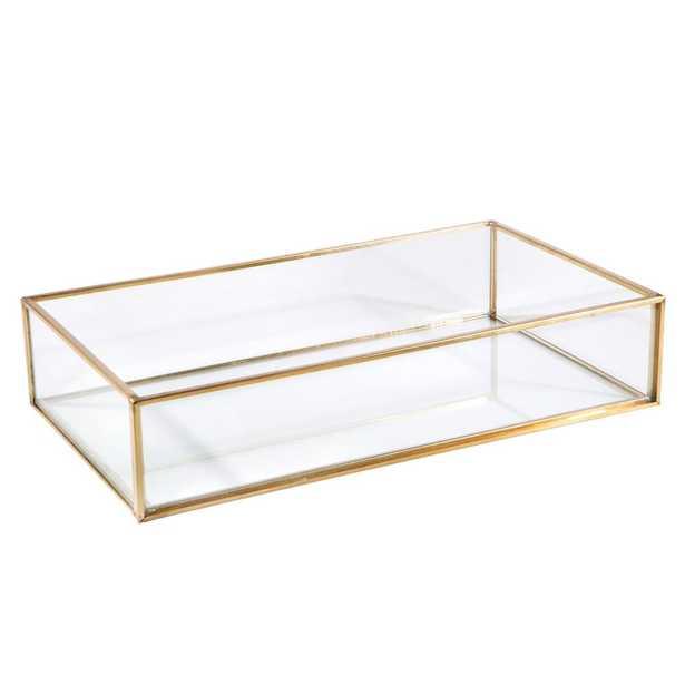 Home Details Vintage Gold Glass Keepsake Tray - Home Depot