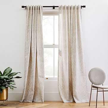 "Woodland Shine Jacquard Curtain, Brick Dust, 48""x96"" - West Elm"