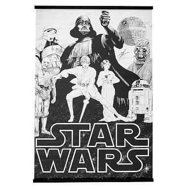 Stars Wars(TM) A New Hope Wall Mural, 36 x 48 - Pottery Barn Teen