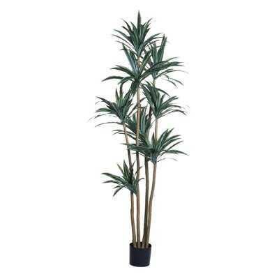 """93"""" Artificial Dracaena Tree in Pot Liner - Wayfair"""