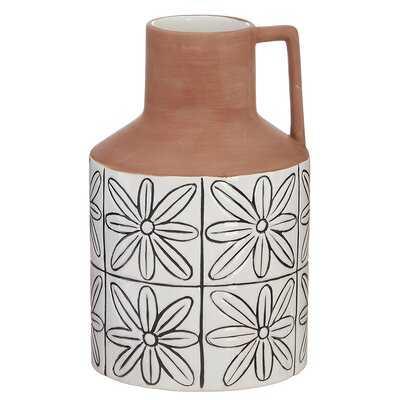 Oatley Tile Patterned Jug Table Vase - Wayfair