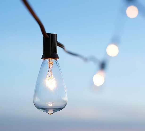 Edison String Light, Black, 50 Ft - Pottery Barn