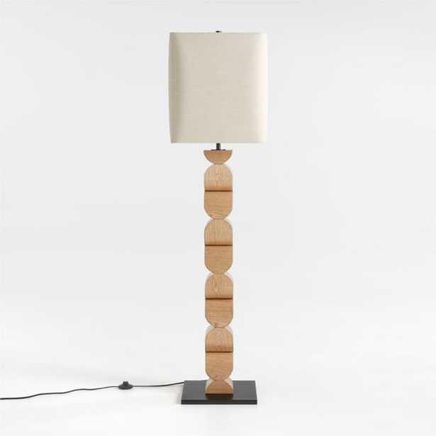 Landing Wood Floor Lamp - Crate and Barrel