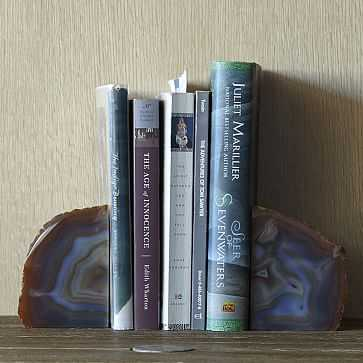 Agate Bookends, Set of 2, Natural - West Elm