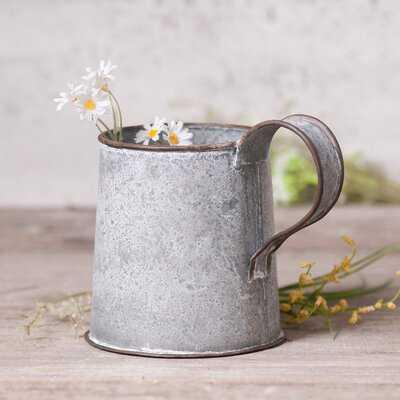 Decorative Mug In Weathered Zinc - Wayfair