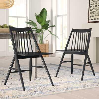 Clower Solid Wood Slat back Side Chair (Set of 2) - Wayfair
