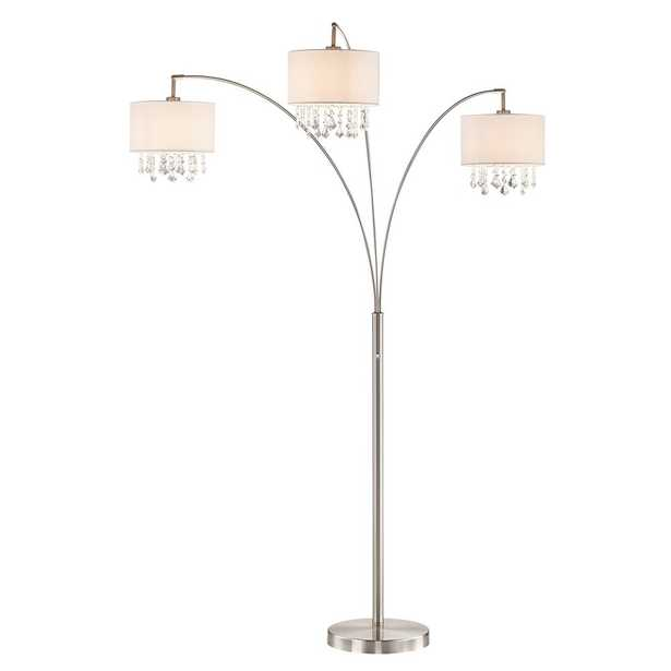 ARTIVA Lumiere IV 80 in. LED Crystal Arc Satin Nickel Floor Lamp/Dimmer - Home Depot
