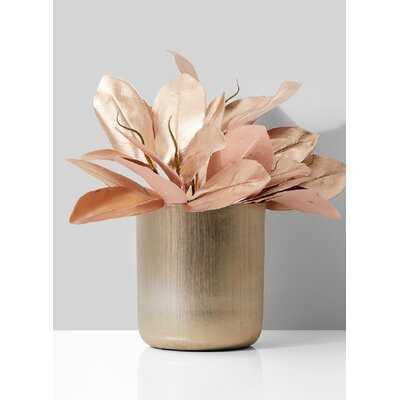 """Anaiya Gold 8"""" Indoor / Outdoor Aluminum Table Vase - Wayfair"""