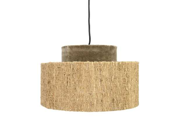 Cotton Velvet & Boucle Pendant Light with 6' Cord (Hardwire Only) - Nomad Home