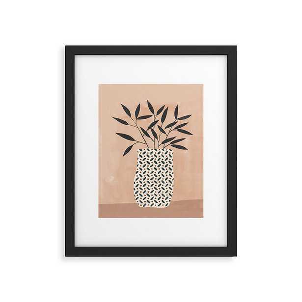 "Odin Vase by Megan Galante - Modern Framed Art Print Black 11"" x 14"" - Roam Common"