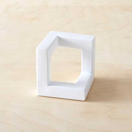 Cast Metal Cube Object - West Elm