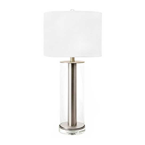 nuLOOM 27 in. Brass Hurley Iron & Glass Indoor Table Lamp - Home Depot