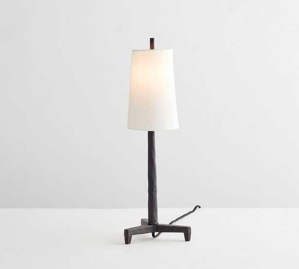 Fallon Forged-Iron Table Lamp, Small, Rustic Iron - Pottery Barn