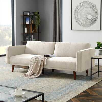 "Cayman 86"" Linen Square Arm Sofa - Wayfair"